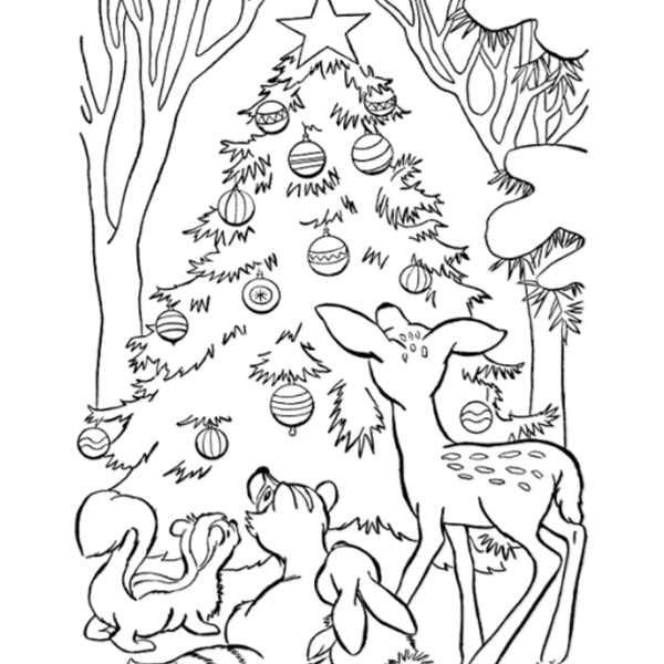 select a coloring sheet christmas
